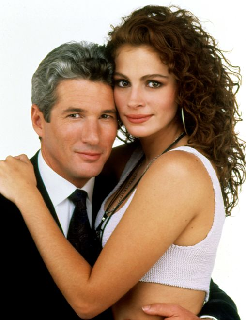 "Richard Gere i Julia Roberts jako Edward Lewis i Vivian Ward w ""Pretty Woman"" w reż. Garry'ego Marshalla"