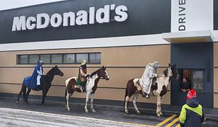 Trzej królowie w chorzowskim McDonald's.