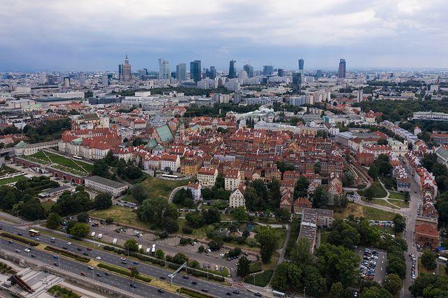 Warszawa. Smog w Warszawie 8 listopada 2019 r.