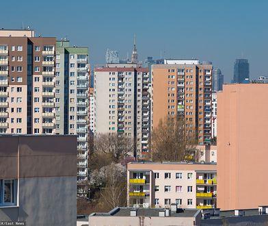 Warszawa. Bloki na Gocławiu