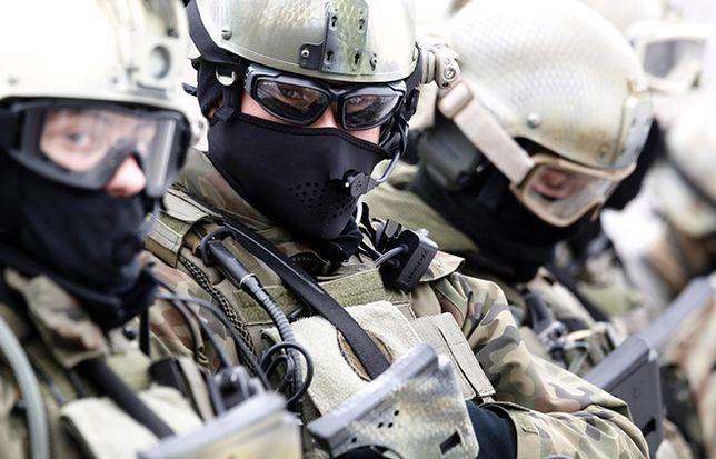 Żołnierze 1. Pułku Specjalnego Komandosów w Lublińcu