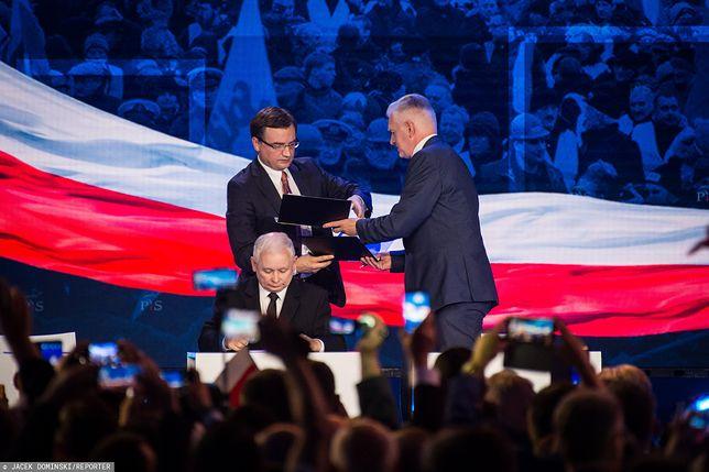 Prezes PiS Jarosław Kaczyński liczy na lojalność Zbigniewa Ziobry i Jarosława Gowina.