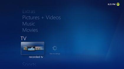 Windows Media Center, czyli nowy, czysty interfejs