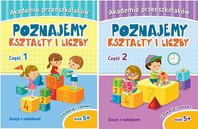 """""""Akademia przedszkolaków. Poznajemy kształty i liczby"""" – recenzja części 1 i 2"""
