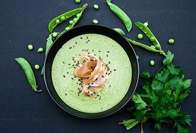 Zupa krem z zielonego groszku - składniki, sposób przygotowania, komentarz