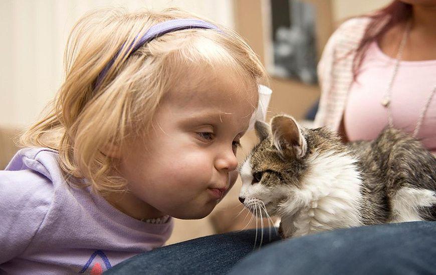 Scarlette bez rączki i jej kotek bez łapki