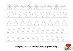 Pomóż dziecku wyćwiczyć rączkę podczas rysowania szlaczków