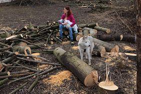 Karmiła piersią w miejscu wycinki drzew. W ten sposób wlaczy z nowym prawem