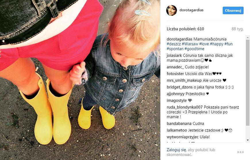 Dorota Gardias rzadko pokazuje swoją córkę w sieci