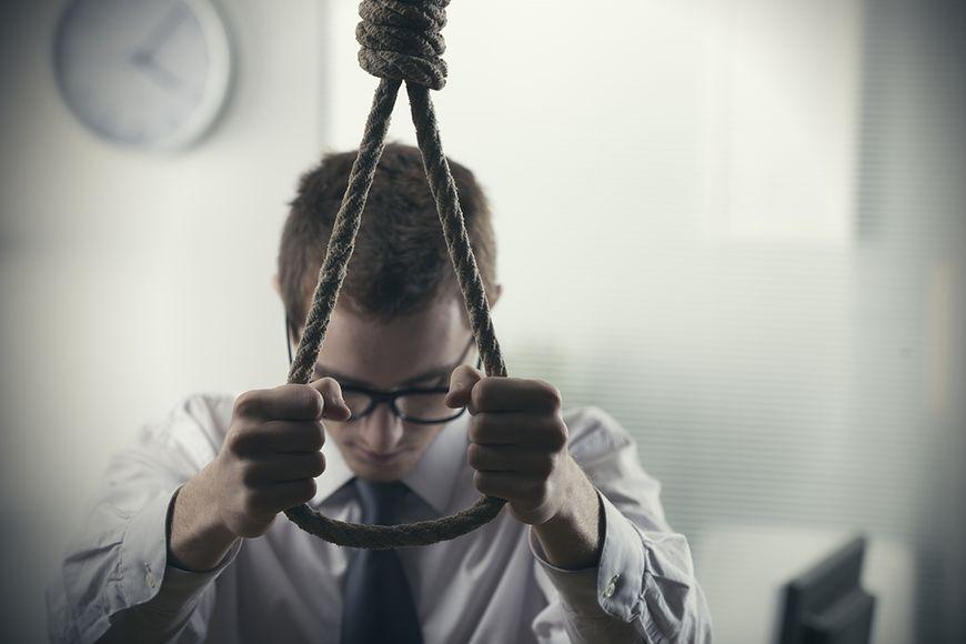 5237 samobójstw wśród mężczyzn w 2014 roku
