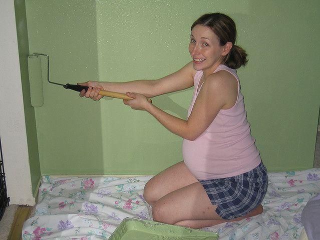 Malowanie pokoju w czasie ciąży