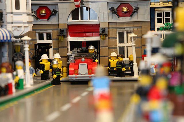 Remiza z serii Lego