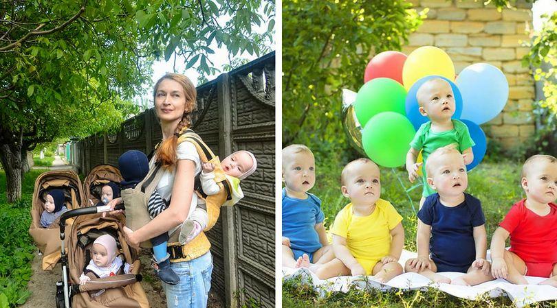 Pięcioraczki przyszły na świat przez cesarskie cięcie. Teraz mają rok i rozwijają się zdrowo