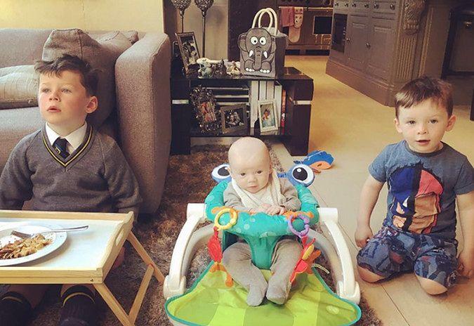 Kai, Klay, Kit - synowie Wayne Rooneya