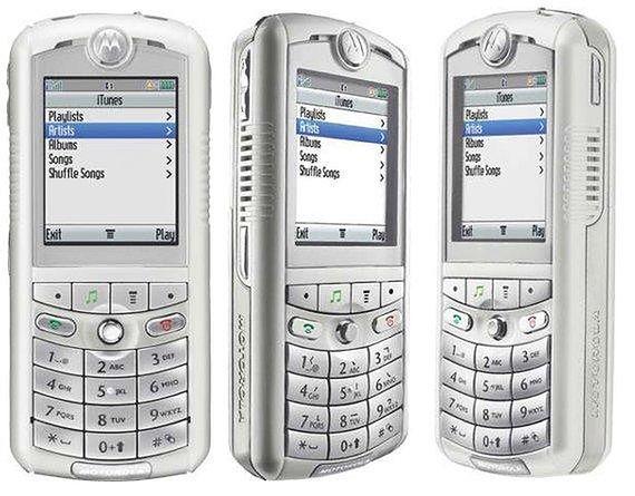 Motorola Rokr E1 w całej okazałości. Źródło: Materiały prasowe producenta