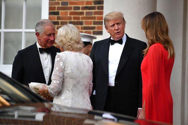 Trumpowie z wizytą dyplomatyczną w Londynie