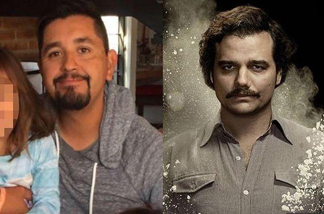 Producent Carlos Munoz Portal (po lewej) i twarz serialu Wagner Moura jako Pablo Escobar (po prawej)
