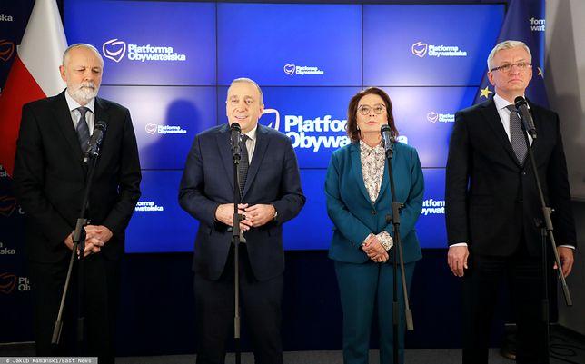 Grzegorz Schetyna, Małgorzata Kidawa-Błońska, Jacek Jaśkowiak.