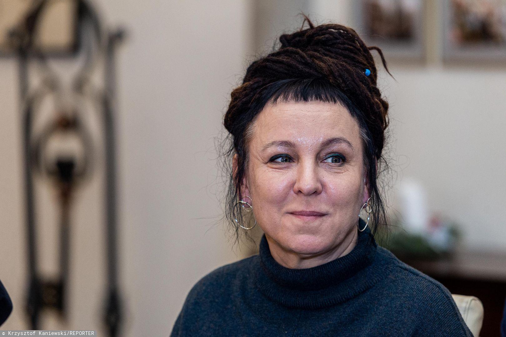 """Olga Tokarczuk w Sztokholmie: """"Nie węgiel, nie ropa naftowa, tylko właśnie literatura ma potencjał"""""""