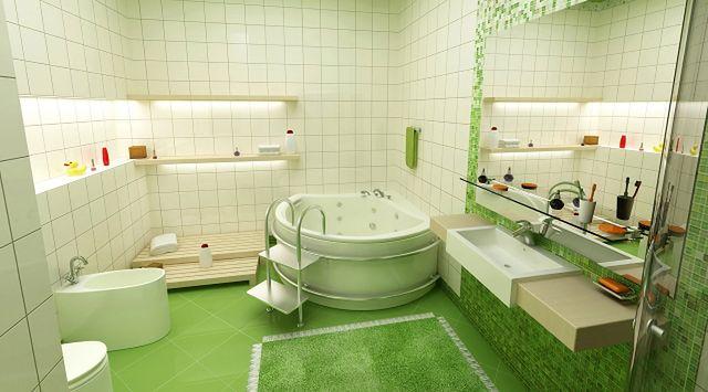 Zielona podłoga