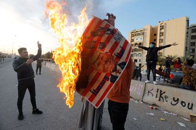 Atak USA. Irak odpowiada groźbami