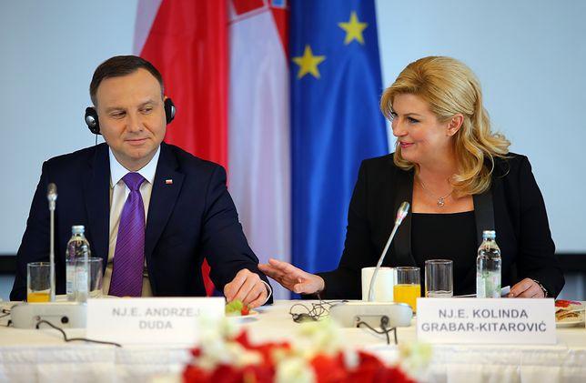 Główni promotorzy Trójmorza: Andrzej Duda i prezydent Chorwacji Kolinda Grabar-Kitarović.
