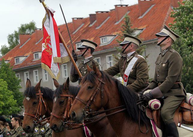Kawalerzyści z Wojska Polskiego