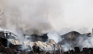 Wrocław: dogaszanie pożaru na ul. Szczecińskiej