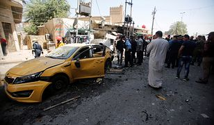 Miejsce zamachu przy rządowym budynku w Bagdadzie