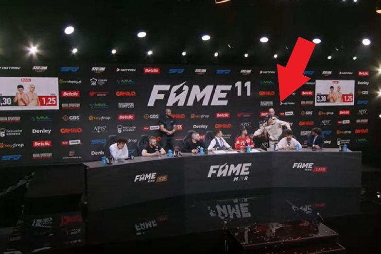 """""""Dla mnie to śmierdzi"""". Wściekły zawodnik przerwał konferencję FAME MMA"""