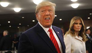 Donald Trump żartuje z Melanii