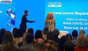 """Magda Gessler w poniedziałek opowiadała młodym ludziom, """"jak zamienić pasję w pracę"""". O biznesie jednak było mało."""