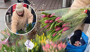 """Sprzedaje tulipany na ulicy. """"Przy życiu trzymają mnie ludzie i praca"""""""
