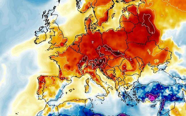 Prognoza pogody. Ciepłe powietrze nad Europą