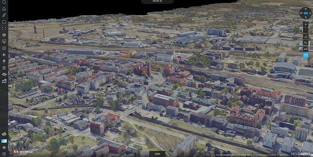 Mapę Katowic można teraz oglądać w trójwymiarze