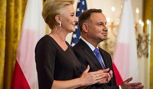 Agata Kornhauser-Duda i Andrzej Duda podczas wizyty w USA