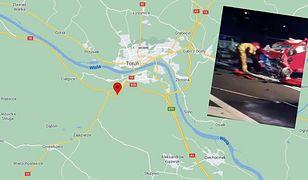 Toruń. Wypadek na trasie S10. Ranni i rozbite auta