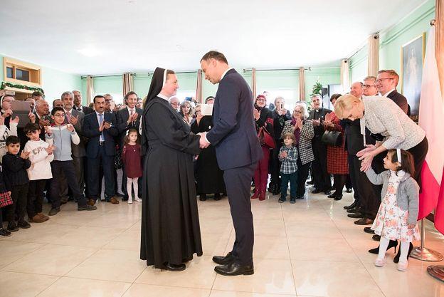 Prezydent odwiedził sierociniec dla palestyńskich dzieci