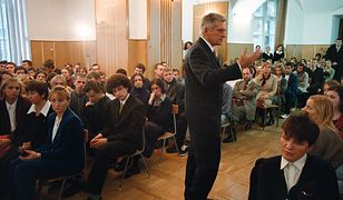 Wizyta premiera Jerzego Buzka w I LO w Chełmie