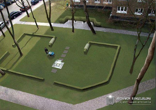 Warszawa. Ciekawy projekt pomnika, upamiętniającego archiwistów, którzy ocalili dowody Holocaustu, będzie można oglądać od 19 kwietnia. Odsłonięcie w rocznicę wybuchu powstania w getcie
