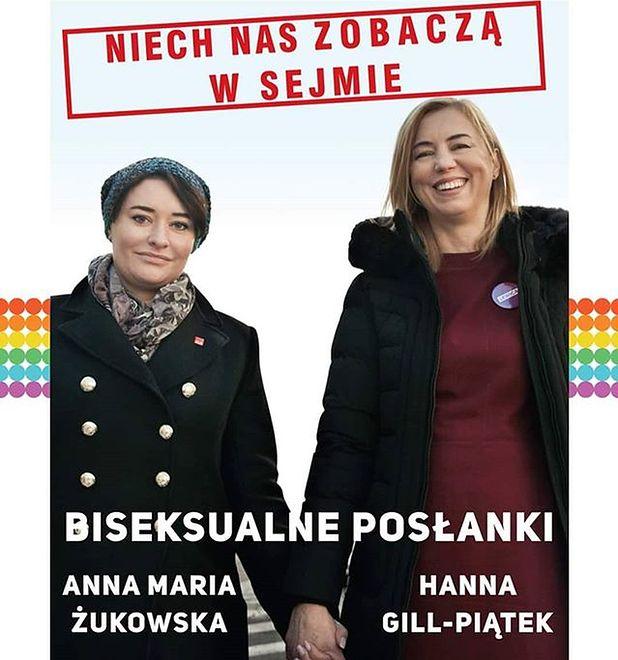 """Okładka """"Repliki"""" z fotografią posłanek Anny Marii Żukowskiej i Hanny Gill-Piątek"""