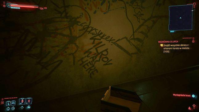 Kilroy was here w Cyberpunk 2077