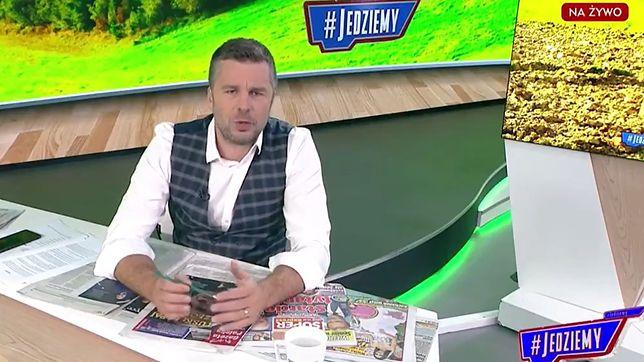 Michał Rachoń to prowadzący #Jedziemy w TVP Info