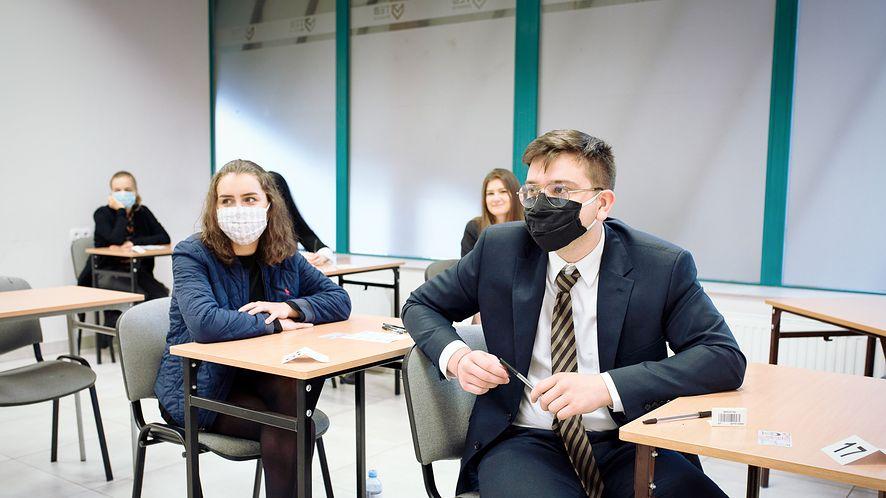 Matura 2020 w Technikum TEB w Tychach, fot. Kamila Kotusz/Agencja Gazeta