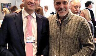 Mateusz Morawiecki i Goerge Clooney.