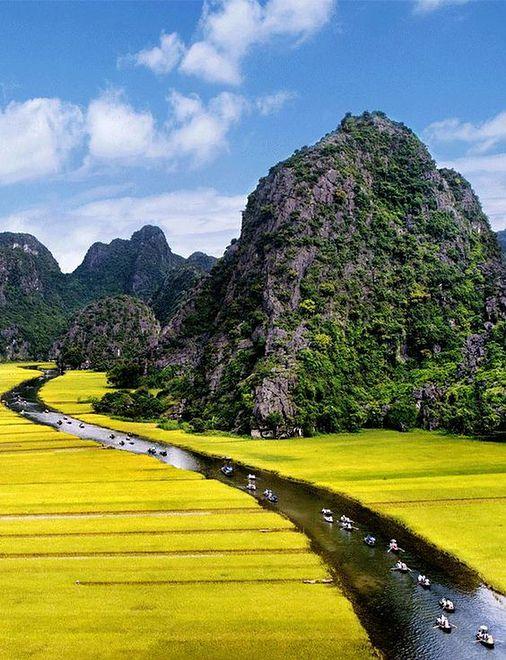 Malowniczy krajobraz Wietnamu