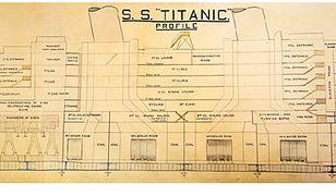 Historyczny rysunek Titanica na aukcji