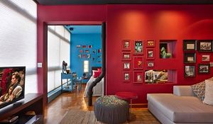 Piękne wnętrza kolorowego mieszkania
