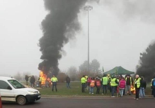 Blokada w okolicach Metz.