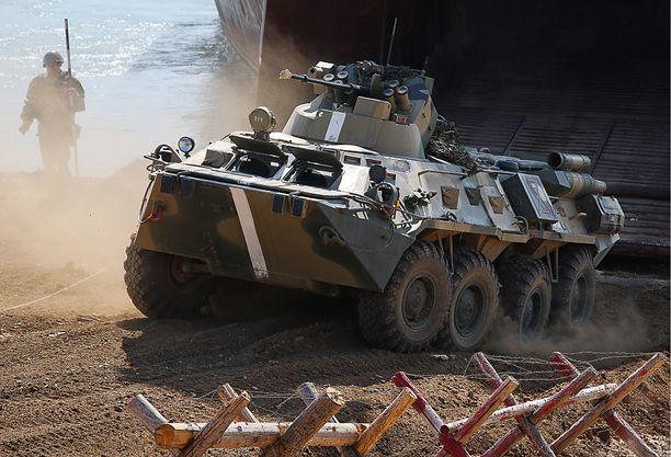 Rosyjski BTR-82A podczas akcji zbrojnej na Krymie